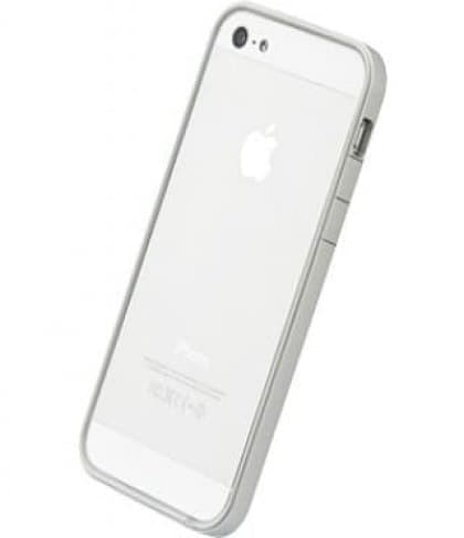 Power Support Silver and White Flat Bumper Set for iPhone 5