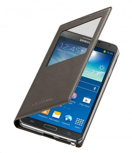 Original Samsung Galaxy Note 3 S-View Cover Mocha Grey