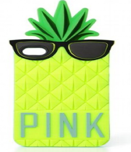 Pineapple Case for iPhone 4 4S from Victoria's Secret Pink Soft Durable Pull-On Case