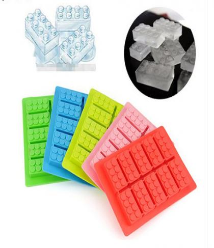 Lego Shape Ice Cubes Silicone Ice Cube Tray