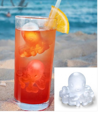 Octopus Shape Ice Cubes Silicone Ice Cube Tray