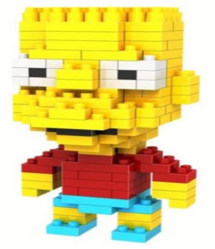 Loz Toy Nano Building Block Gift Series Bart Simpson