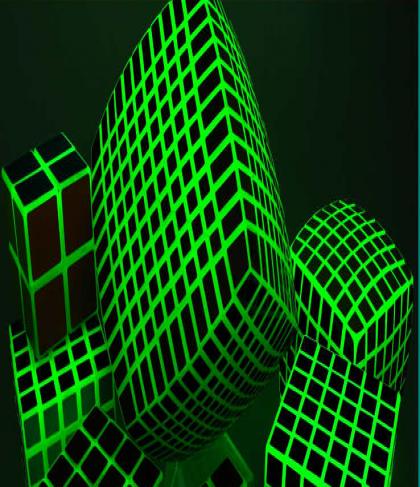 Glow in Dark 11x11 Rubiks  Cube