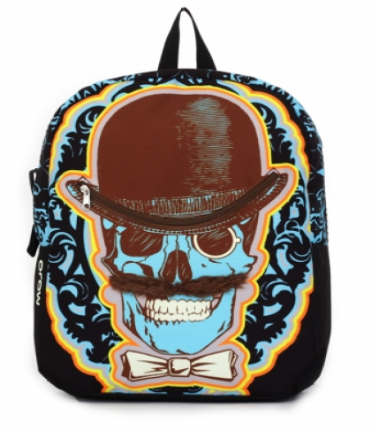 Mojo Backpacks Mustachio Skull School Bag