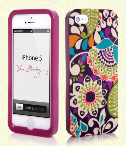 Vera Bradley Snap On Case for iPhone 5 5s Plum Crazy
