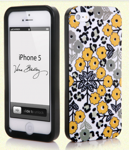 Vera Bradley Snap On Case for iPhone 5 5s Go Wild