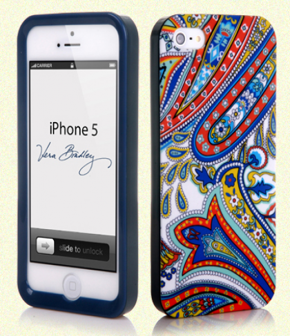 Vera Bradley Snap On Case for iPhone 5 5s Marina Paisley