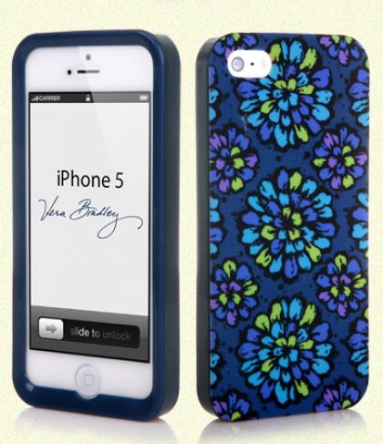 Vera Bradley Snap On Case for iPhone 5 5s Indigo PopVera Bradley Snap On Case for iPhone 5 5s Indigo Pop