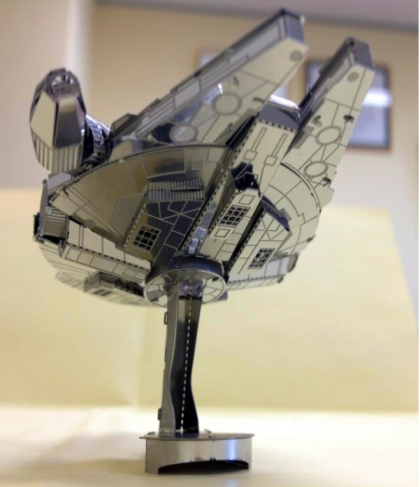 DIY 3D Stainless Steel Metal Puzzle Laser Cut-Star Wars Millennium Falcon Spaceship