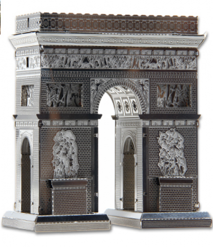DIY 3D Stainless Steel Metal Puzzle Laser Cut-Paris Arc de Triomphe