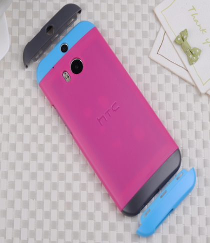 HTC One M8 Original Double Dip Case Pink Blue Grey
