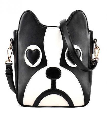 Cute 3D French Bulldog Puppy Dog Cross Body Strap Bag Purse