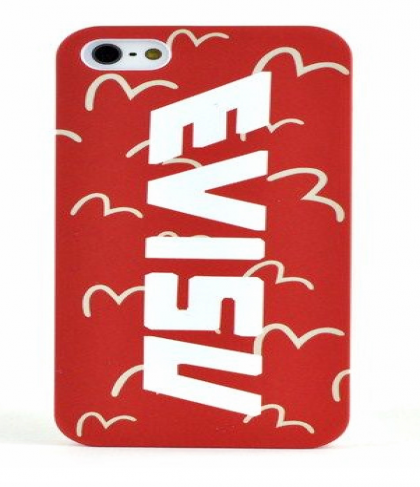 Evisu Japan Case for iPhone 5 5s Red and White