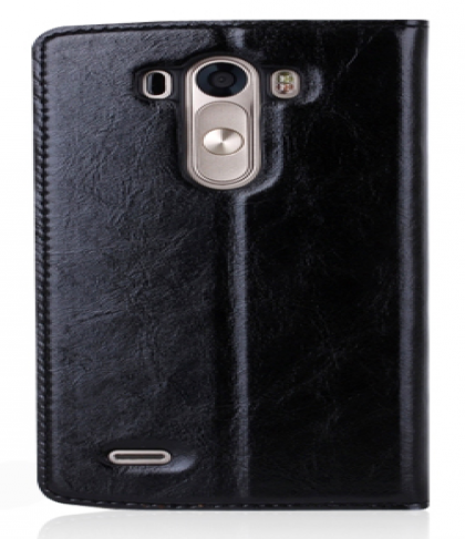 Premium Real Leather Quick Circle Flip Case for LG G3