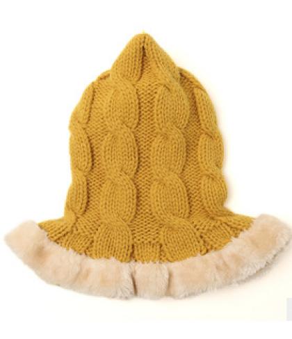 LemonKid Knitted Stylish Scarf Faux Fu5r Christmas Hat Kids