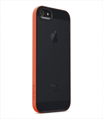 Belkin Grip Candy Sheer for iPhone 5 5s Hazard Blacktop