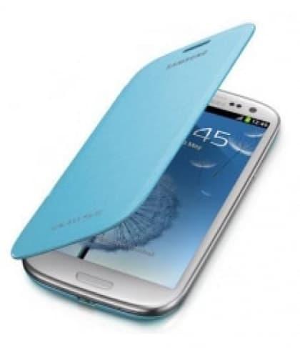 Samsung Galaxy S3 S III Flip Cover - Light Blue Turquoise