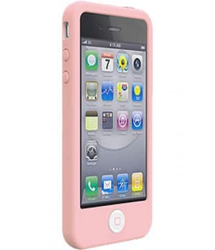 SwitchEasy Colors Pastels Baby Pink Silicone Case for iPhone 4