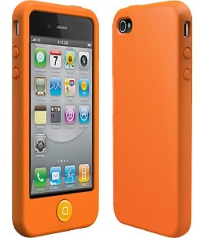 SwitchEasy Colors Saffron Orange Silicone Case for iPhone 4