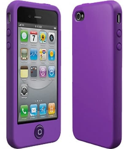 SwitchEasy Colors Viola Purple Silicone Case for iPhone 4