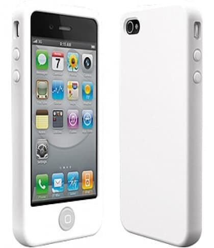 SwitchEasy Colors Milk White Silicone Case for iPhone 4