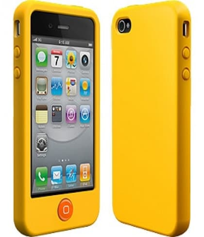 SwitchEasy Colors Mican Yellow Silicone Case for iPhone 4