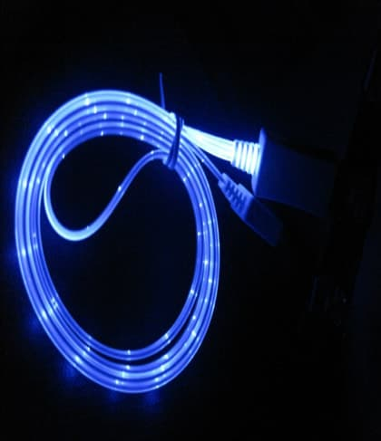 LED Sync Charging Cable for iPhone 4 4S