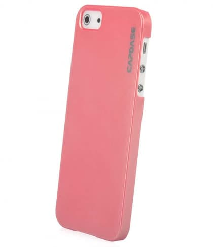 CAPDASE Karapace Pink Jacket-Pearl (with stand) for iPhone 5
