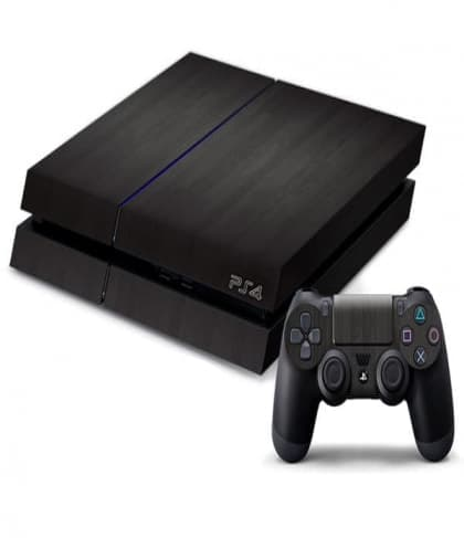 PS4 Smooth Black Decal Skin for Console and Controller