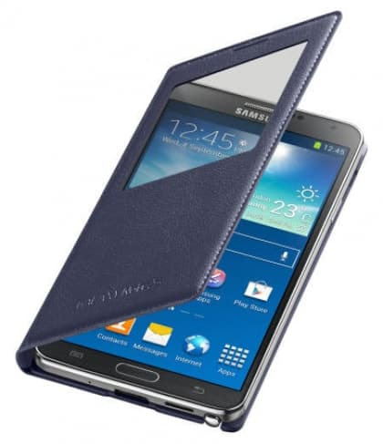 Original Samsung Galaxy Note 3 S-View Cover Indigo Blue