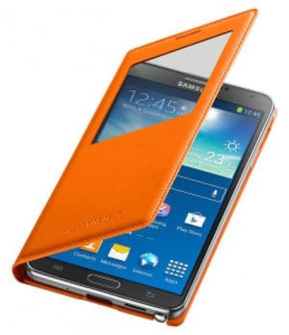 Original Samsung Galaxy Note 3 S-View Cover Wild Orange
