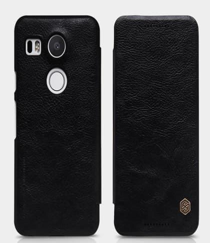 LG Nexus 5X Genuine Leather Flip Case