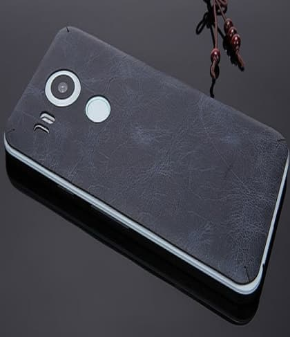 Real Leather Back Decal for Nexus 6P