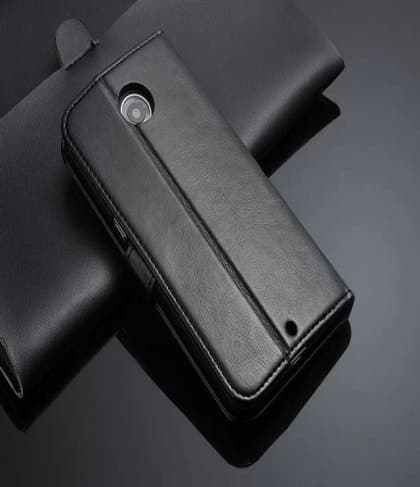 Genuine Leather Wallet Card Holder ID Case for Nexus 6P