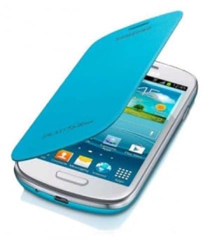 Samsung Galaxy S3 Mini Flip Cover Light Blue