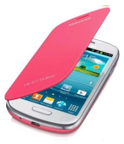 Samsung Galaxy S3 Mini Flip Cover Pink Galaxy