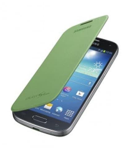 Samsung Galaxy S4 Mini Flip Lime Green Case Cover