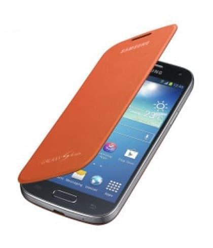 Samsung Galaxy S4 Mini Flip Orange Case Cover