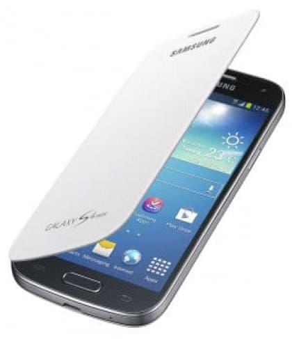 Samsung Galaxy S4 Mini Flip White Case Cover