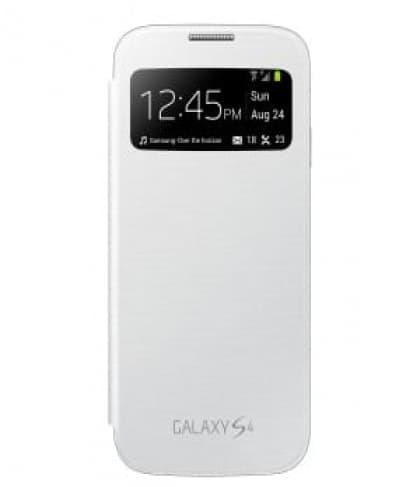 Samsung Galaxy S4 Mini S View Flip White Case Cover