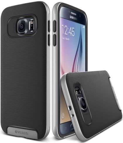 Verus Satin Silver Galaxy S6 Case Crucial Bumper Series