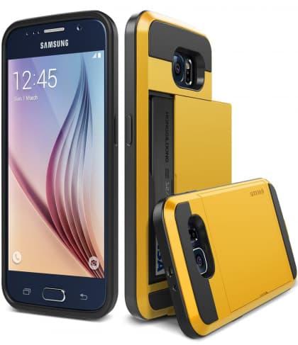 Verus Yellow Galaxy S6 Case Damda Slide Series