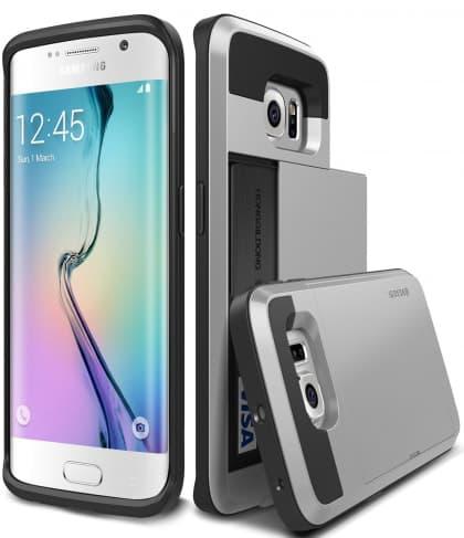 Verus Satin Silver Galaxy S6 Edge Case Damda Card Slide Series