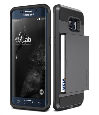 Verus Damda Hard Credit Card ID Holder Case For Galaxy S6 Edge Plus Steel Silver