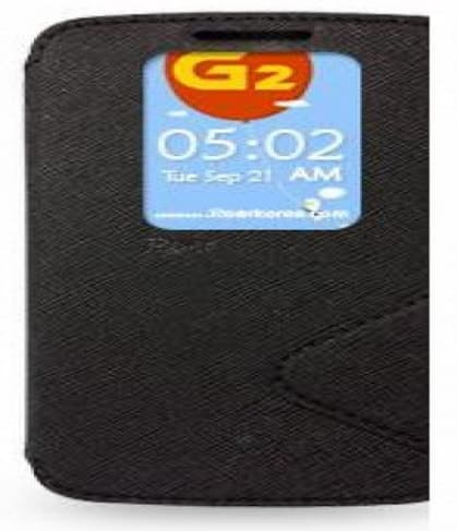 Fancy Diary Flip Case with Quick View Window for LG G2